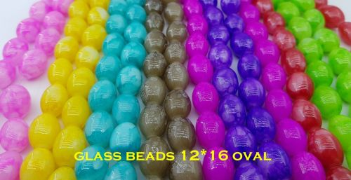 Glass Beads 12*16MM Round